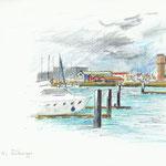Zeebrugge - 15x21cm - 40€ - n°18297