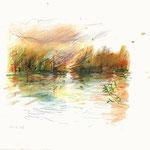 La Seine en barque-15x21cm-40€-n°16321