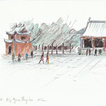Xi'an, Big Goose Pagoda, Chine-15x21cm-vendu-n°18028
