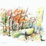 Forêt de Fontainebleau-15x21cm-40€-n°17485