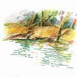La Seine en barque-15x21cm-40€-n°16320