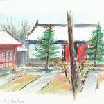 Xi'an, Chine, Small Goose Pagoda-15x21cm-vendu-n°18025