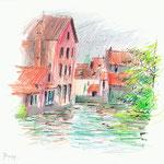 Bruges, canal - 15x21cm - 40€ - n°18289