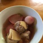 ラディッシュと鶏肉の酸っば煮/ radish and chicken sour soup