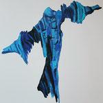 """""""Le bleu"""" 116x81 cm peinture acrylique"""