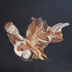"""la racine""  50 x 61 cm peinture acrylique"