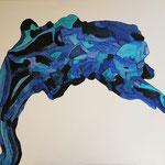 """""""la racine bleu"""" 81 x 116 cm peinture acrylique"""
