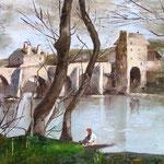 lago ( omaggio ad artista)      olio su tela30x40