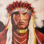 cherokee olio su tela 50x60