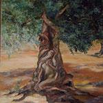 dea dell'ulivo           60x70  olio su tela (collezione privata)