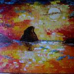 tramonto      spatolato     50 x60  (collezione privata)