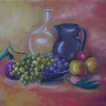 frutta       olio su tela   50x40  (collezione privata)