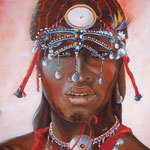 Masai      60x 70 olio su tela