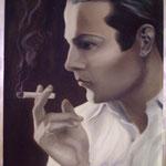 Rodolfo valentino   60x70  grisaille
