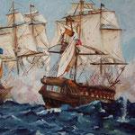 battaglia 60x50 olio su tela  (collezione privata)