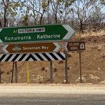 Wir wollen Richtung Katherine