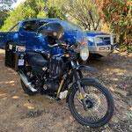 Motorrad und Gepäck nach Bindoon gebracht