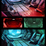 Concept art for 3D CG short.Paint over 3D.