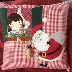 Cuscino racconta favole - Babbo Natale - Miaodress Creative Design - Handmade - Italian Style