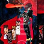 Space Pirate Captain Herlock   ремикс к плакату. плакат готов к печати