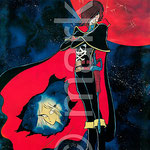 Space Pirate Captain Herlock | 1979 г. плакат реставрирован и готов к печати