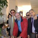 """Guerrieri, Malfatti, Leonardo Consoli e Rollo - Presentazione del libro """"L'Ombrellaio""""  del nostro fratello """"SCRITTORE"""" F. Malfatti"""