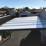 carport aluminium adossé