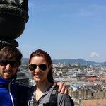 Eleonora e Fabio sulla torre della Basilica di Santo Stefano