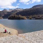 Il lago di Devero visto dalla diga