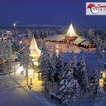 Il villaggio di Babbo Natale in inverno
