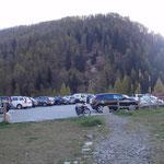 Il parcheggio all'Alpe Devero