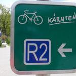 Cartelli indicatori della ciclabile dell' Ossiachersee