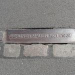 Berlino - Targa ricordo del muro