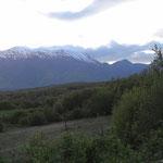Le montagne viste dal nostro punto sosta