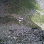 Il Rifugio Carate visto dal Monte delle Forbici