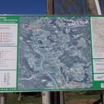 Carta con l'itinerario ciclabile