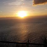 Il tramonto sul Mar Ligure e giornata finita