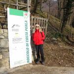 Inizio sentiero all'Osservatorio Ornitologico