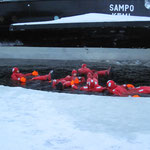 Si fà il bagno nel mare di Botnia con -22° C