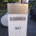 Il vecchio confine lato sloveno