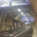 Ultima galleria prima di Ospedaletti lunga quasi 2 km con la storia del ciclismo della Milano San Remo