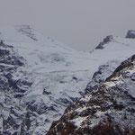 Il ghiacciaio del Gran Paradiso visto da Valnontey