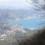 Vista panoramica su Santa Margherita e Rapallo