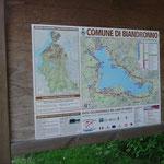Carta dei sentieri della ciclabile del Lago di Varese