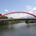 Il nuovo ponte sulla Drava: Friedensbrucke