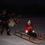 Sulla slitta trainata dalle renne