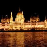 Budapest di notte: il Parlamento