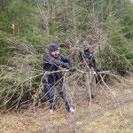 Dobbiamo anche liberare la pista da alberi caduti!