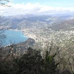 Vista panoramica su Camogli e Recco
