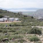 I nostri camper al parcheggio della fortezza